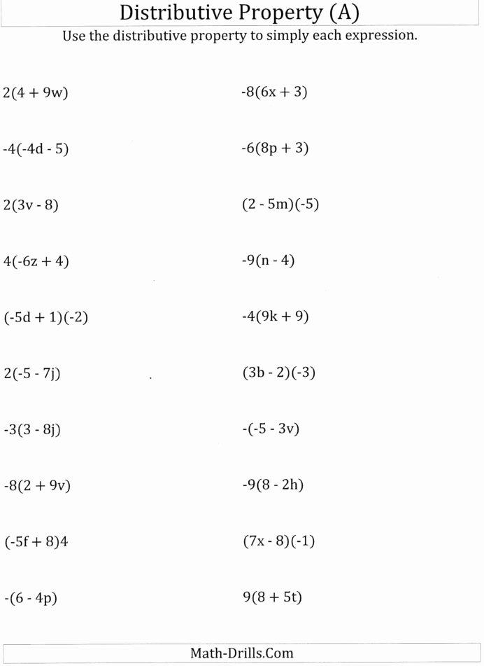 Distributive Property 3rd Grade Worksheets Ideas Worksheet Math Worksheets Distributive Property Using 6th