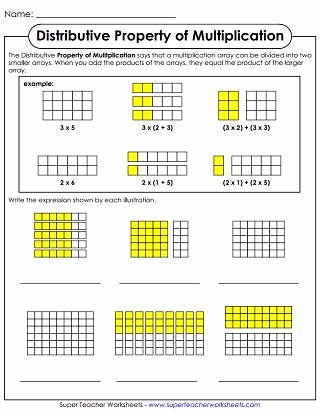 Distributive Property Worksheet 3rd Grade Free Properties Of Multiplication Worksheets