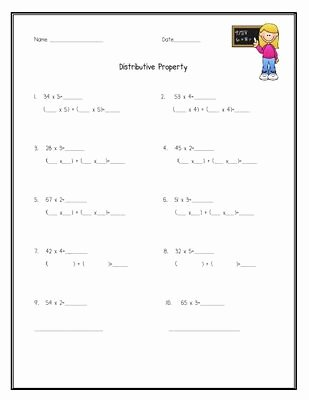 Distributive Property Worksheet 4th Grade Free Educationjourney Math Practice