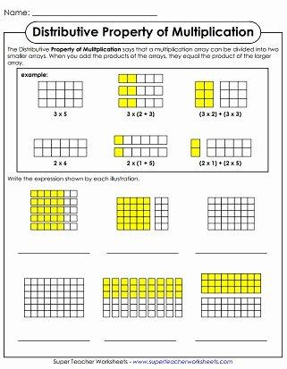 Distributive Property Worksheets 3rd Grade Free Properties Of Multiplication Worksheets