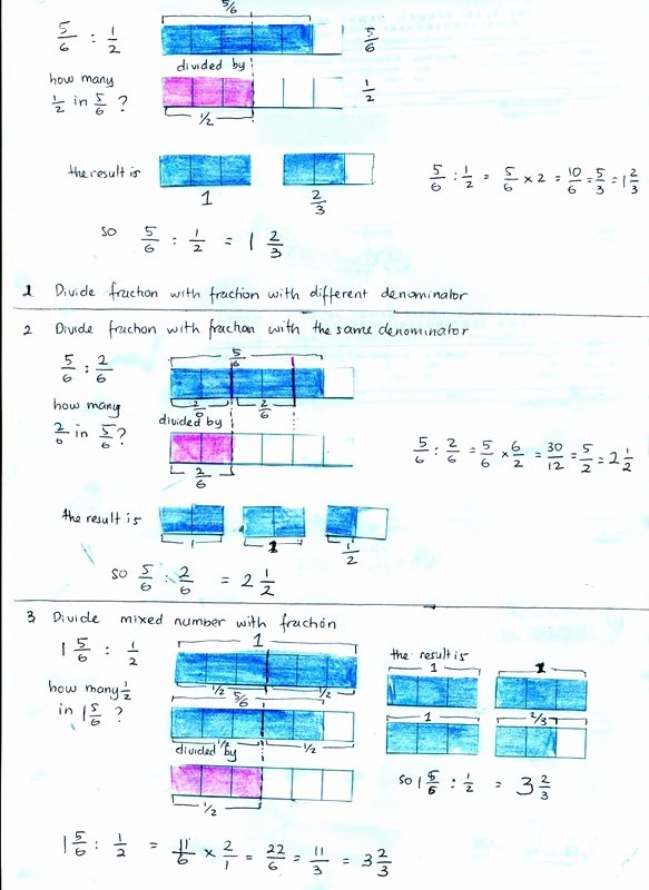 Dividing Fractions Using Models Worksheet New Math Learn About Concept Of Dividing Fraction Using Visual