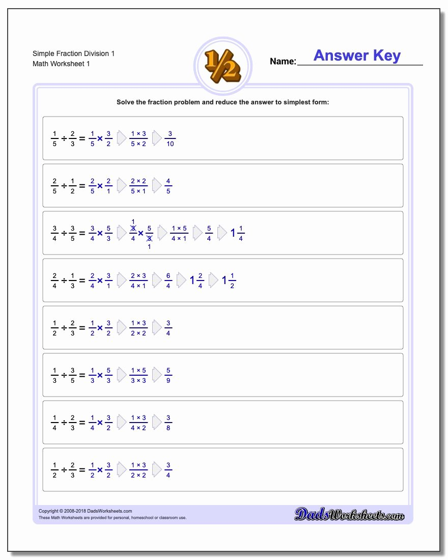 Dividing Fractions Word Problems Worksheet Free Fraction Division