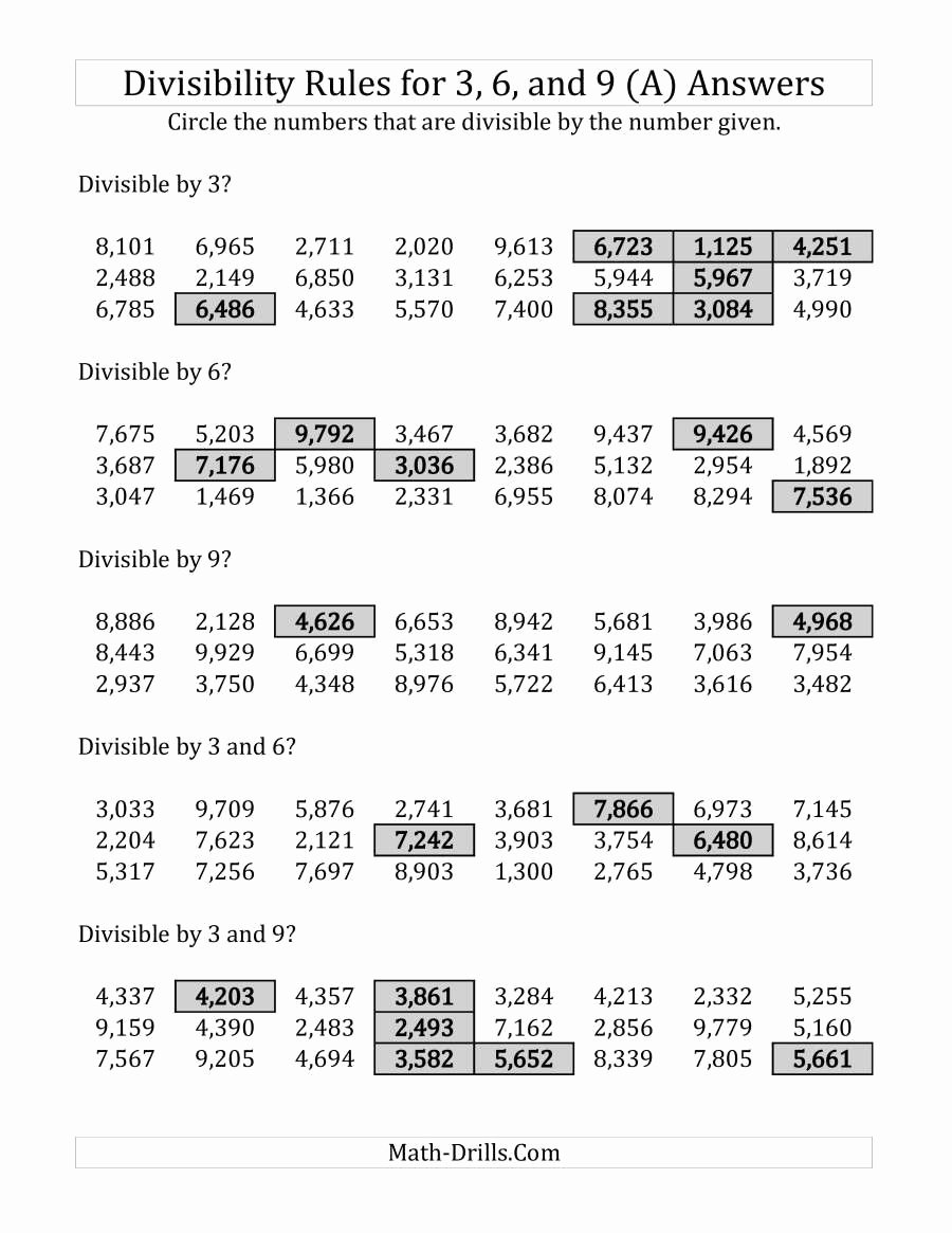 Divisibility Rules Worksheet 6th Grade Best Of Divisibility Rules Worksheet 6th Grade In 2020