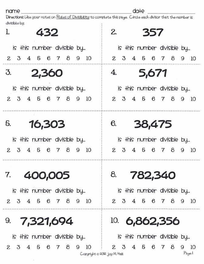Divisibility Rules Worksheet 6th Grade Ideas 28 Divisibility Worksheets with Answer Key Divisibility Rule