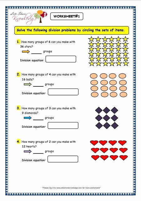 Division Worksheets for Grade 2 Best Of Grade 3 Maths Worksheets Division 6 2 Division by Grouping