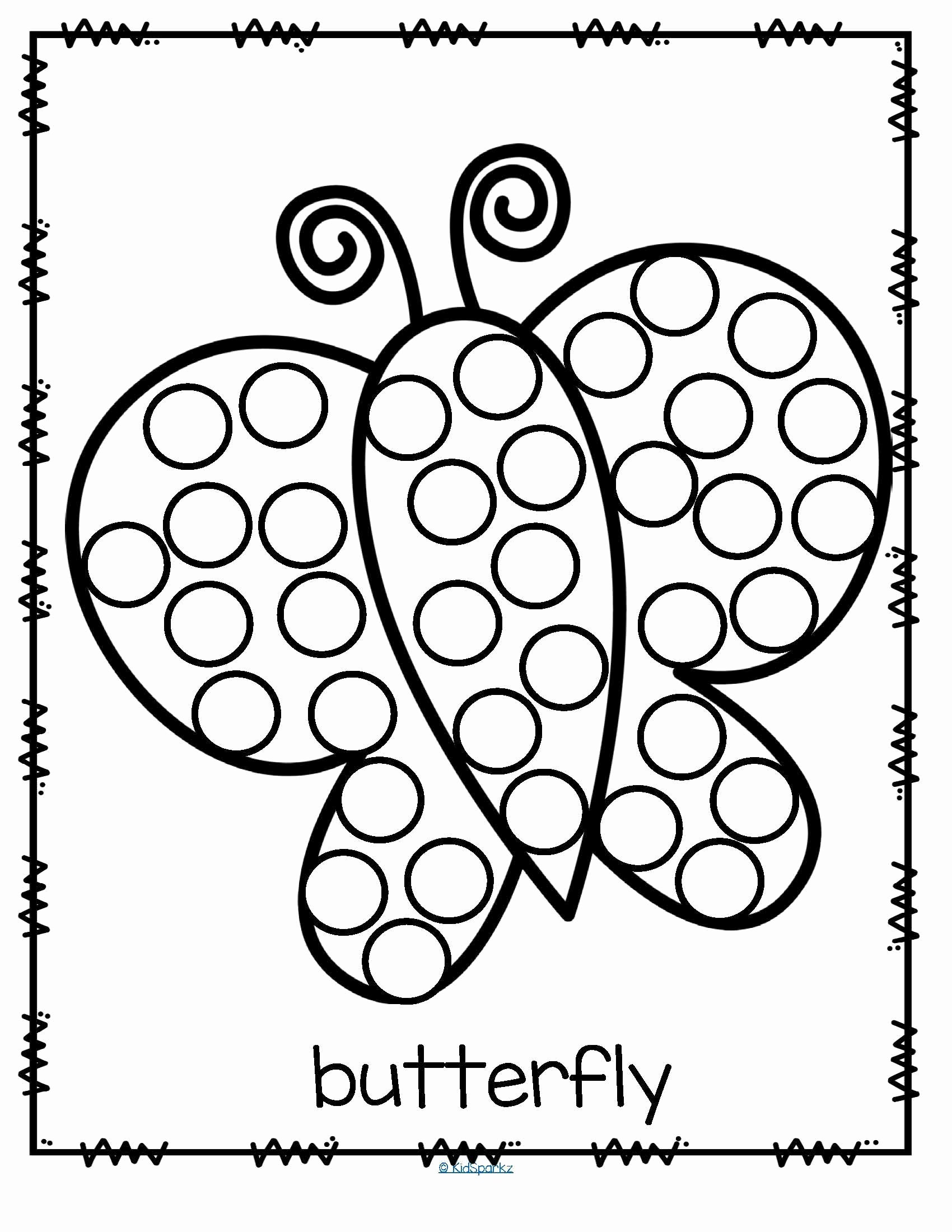 Dot to Dot Art Printables Fresh 26 Free Printable Dot Marker Templates butterfly Do A Dot