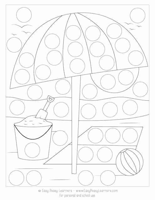 Dot to Dot Art Printables Lovely Free Summer Do A Dot Printables Easy Peasy Learners