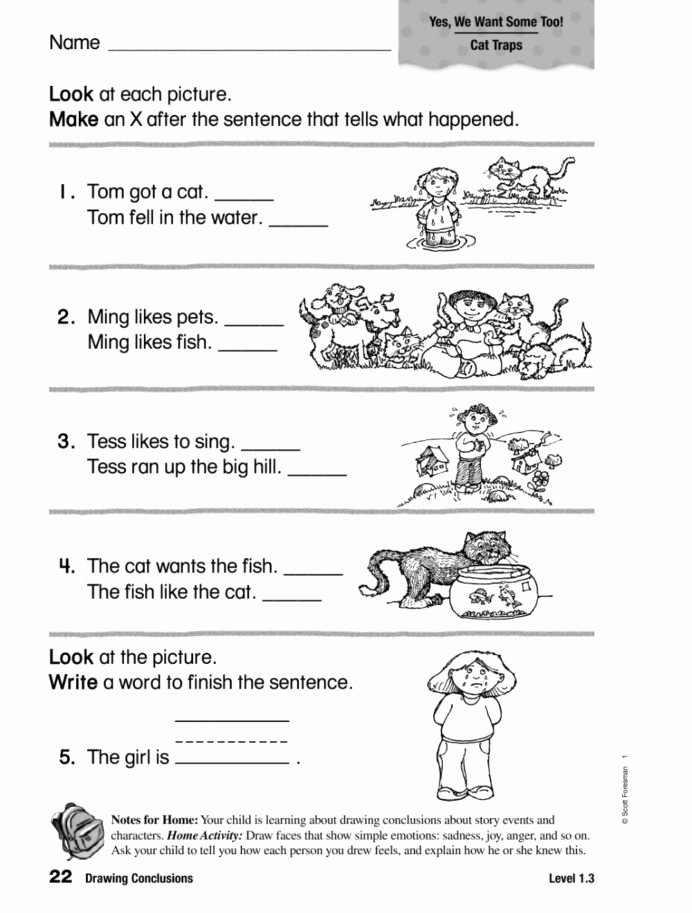 Drawing Conclusion Worksheets 3rd Grade Inspirational Drawing Conclusions Interactive Worksheet Worksheets Free