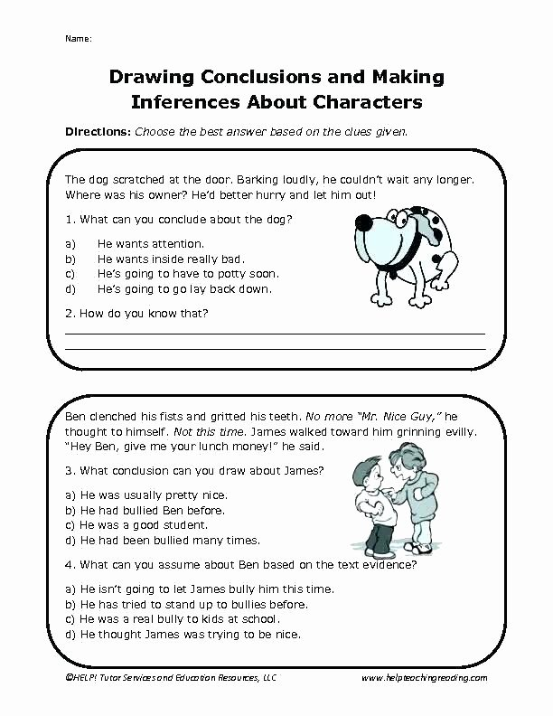Drawing Conclusion Worksheets 3rd Grade Printable Third Grade Drawing Conclusions Worksheets – Dailycrazynews