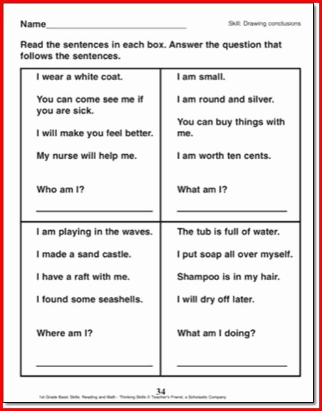 Drawing Conclusions Worksheets 3rd Grade Inspirational Drawing Conclusions Worksheets 3rd Grade