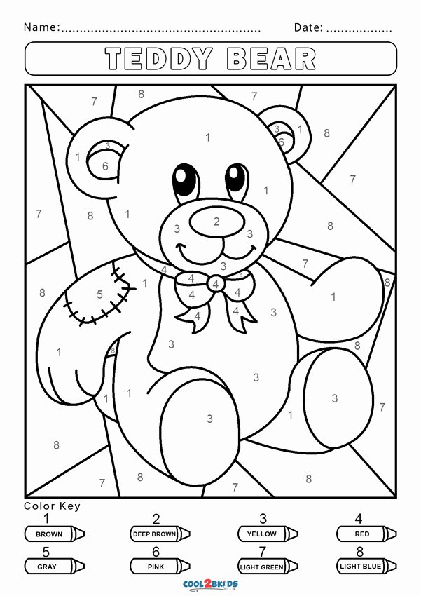 Easy Color by Number Worksheets Free Coloring Pages Free Color byr Worksheets Cool2bkids
