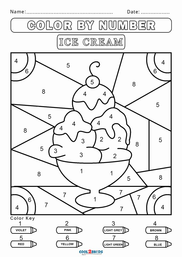 Easy Color by Number Worksheets Free Free Color by Number Worksheets