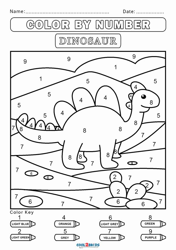 Easy Color by Number Worksheets Fresh Free Color by Number Worksheets Cool2bkids Dinosaur Quadrant