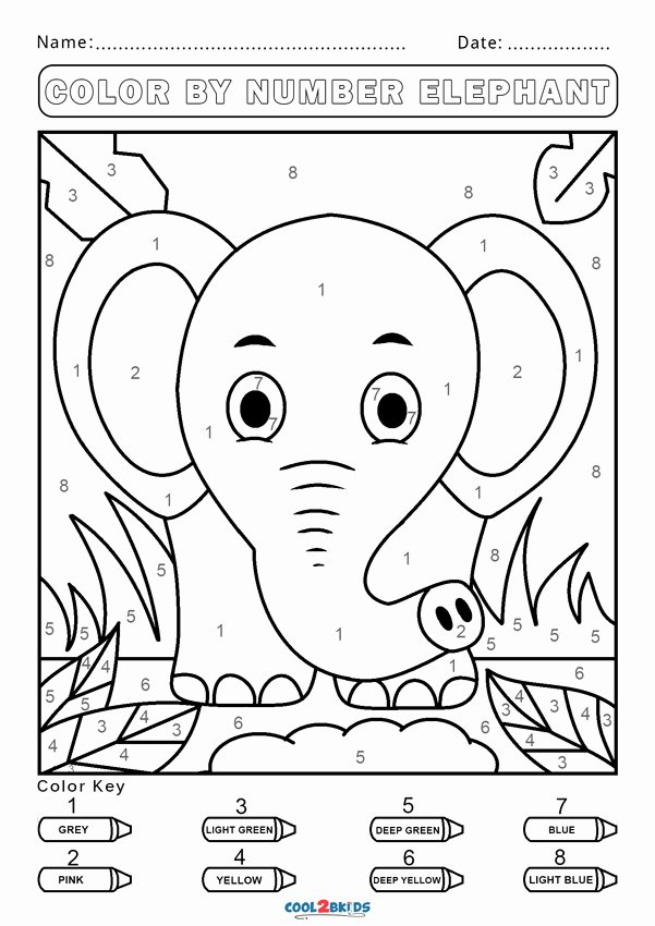 Easy Color by Number Worksheets Printable Free Color by Number Worksheets