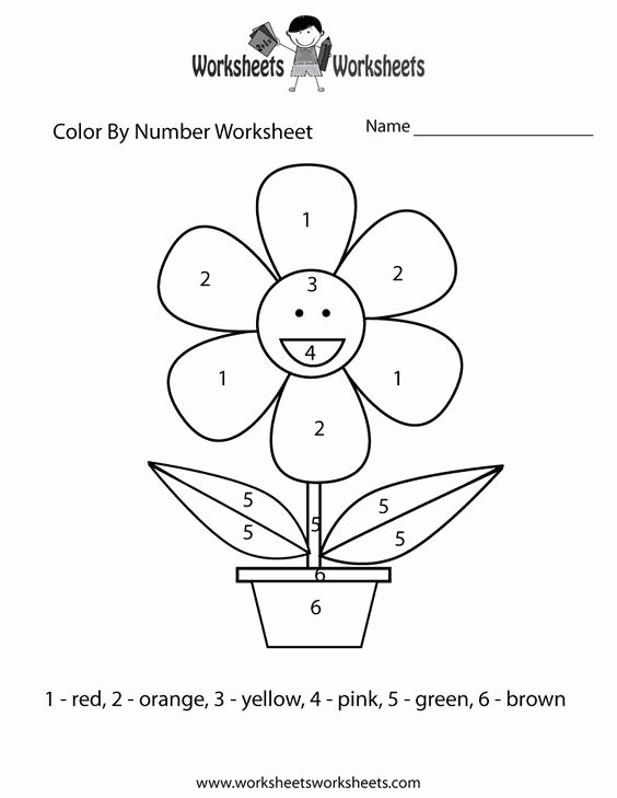 Easy Color by Number Worksheets top Easy Color by Number Worksheet Printable