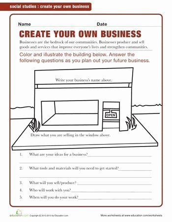 Economics Worksheets for Middle School Best Of Economics Worksheets for Middle School Starting A Business