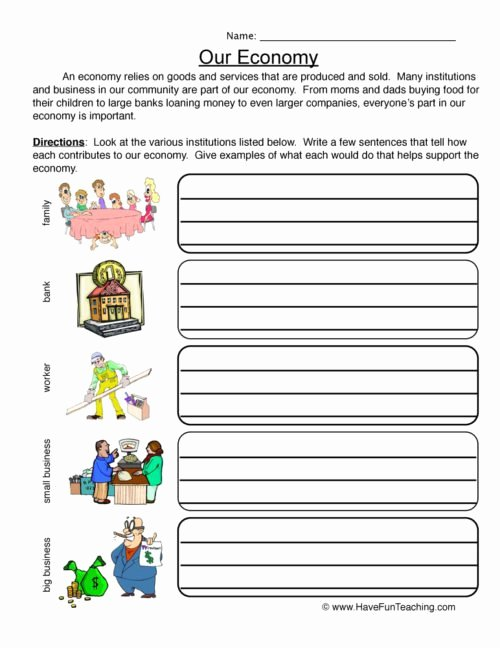 Economics Worksheets for Middle School Ideas Economics Worksheets • Have Fun Teaching