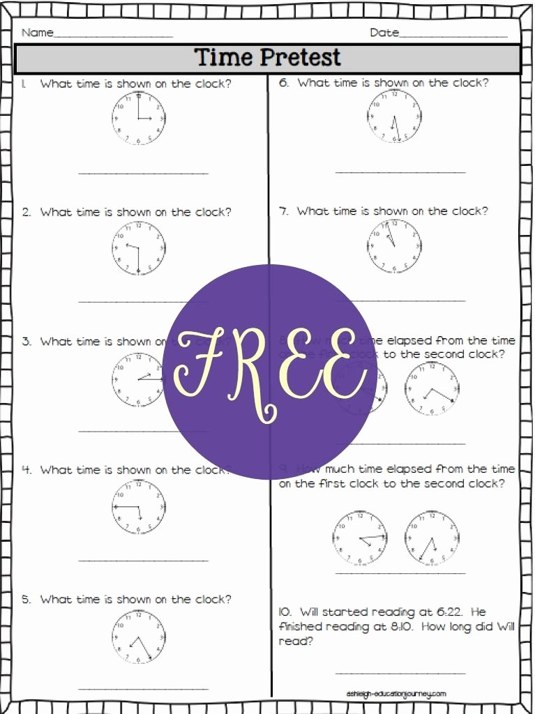 Elapsed Time 3rd Grade Worksheets Best Of Elapsed Time ashleigh S Education Journey