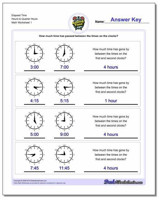 Elapsed Time 3rd Grade Worksheets Ideas Analog Elapsed Time