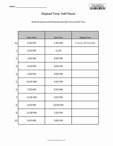 Elapsed Time 3rd Grade Worksheets Ideas Elapsed Time Worksheets Teaching Squared