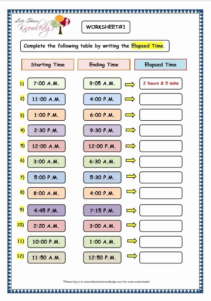 Elapsed Time 3rd Grade Worksheets Printable Worksheet Math for Year Worksheets Ideas Worksheet