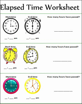 Elapsed Time Worksheets 3rd Grade Inspirational Time Worksheets Time Worksheets for 2nd Grade