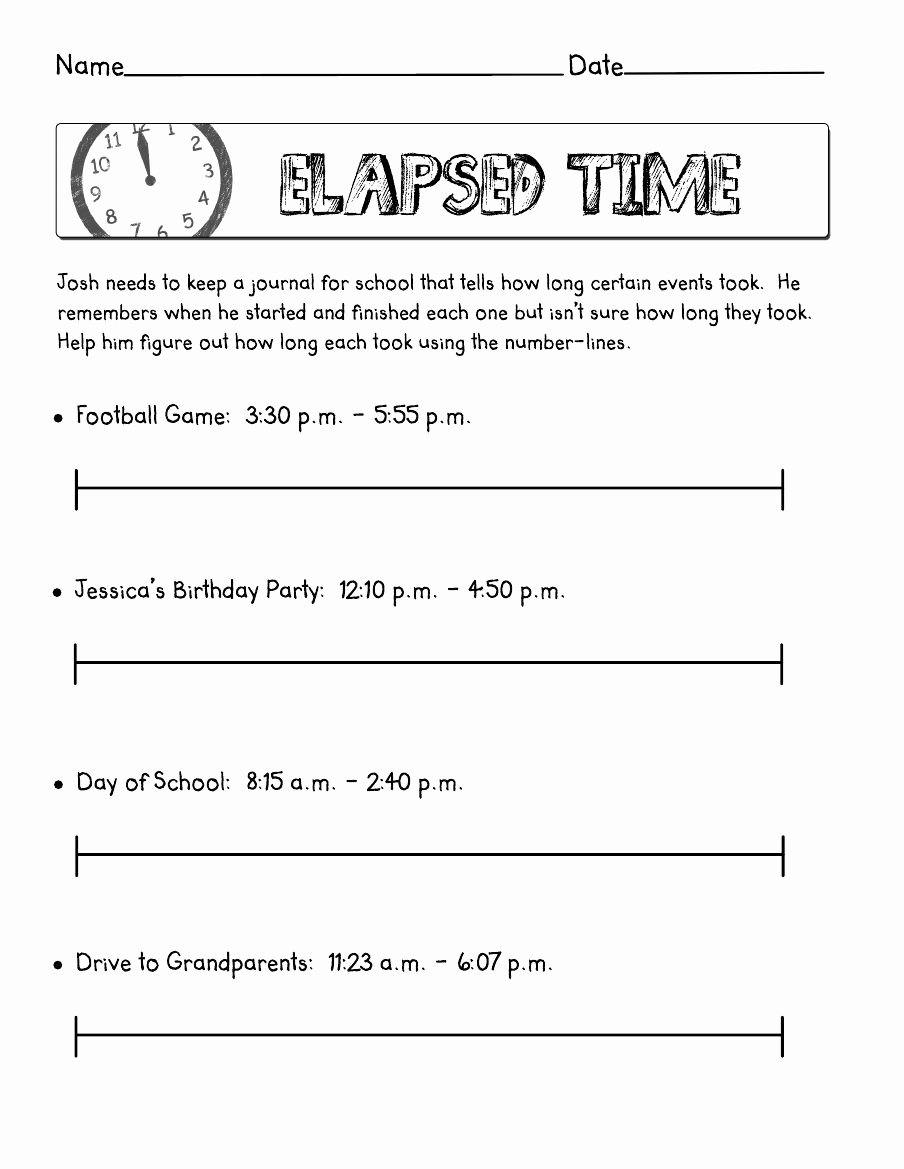 Elapsed Time Worksheets 3rd Grade Lovely Worksheet Elapsed Time Scribd Worksheets Outstanding 3rd