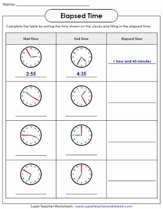 Elapsed Time Worksheets 3rd Grade New Elapsed Time Worksheets Math Time Worksheets