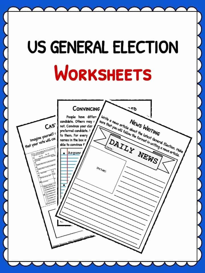 Election Worksheets for Elementary Students Best Of Us General Election Facts Information & Worksheets