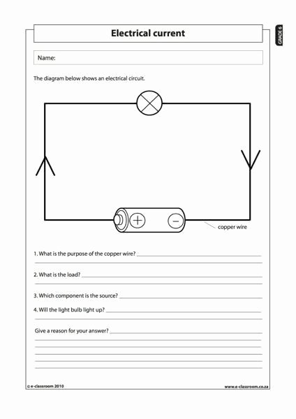 Electricity Worksheets for Middle School Best Of Electricity Worksheets for Middle School Members Ly In 2020