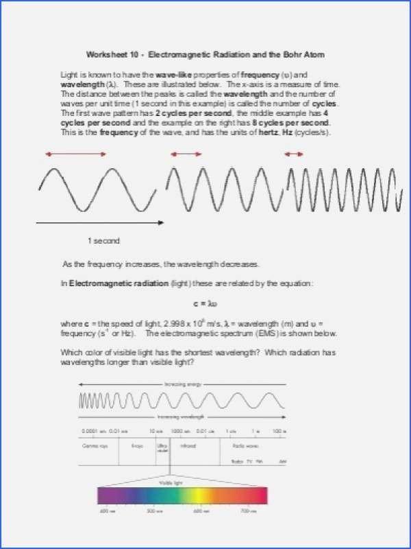 Electromagnetic Spectrum Worksheet High School top the Electromagnetic Spectrum Worksheet Answers In 2020
