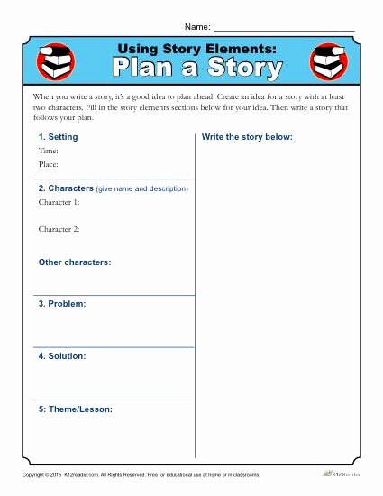 Elements Of A Story Worksheet Free Using Elements Plan Worksheet Activity Parts Worksheets