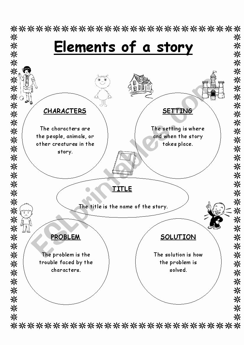 Elements Of A Story Worksheet Ideas Elements Of A Story Esl Worksheet by Shaniyasidd Gmail