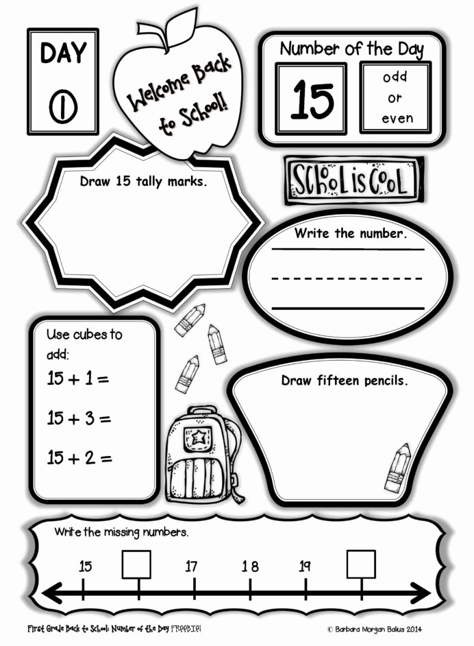 End Of School Year Worksheets Lovely First Grade Number the Freebie Math 2nd End Year