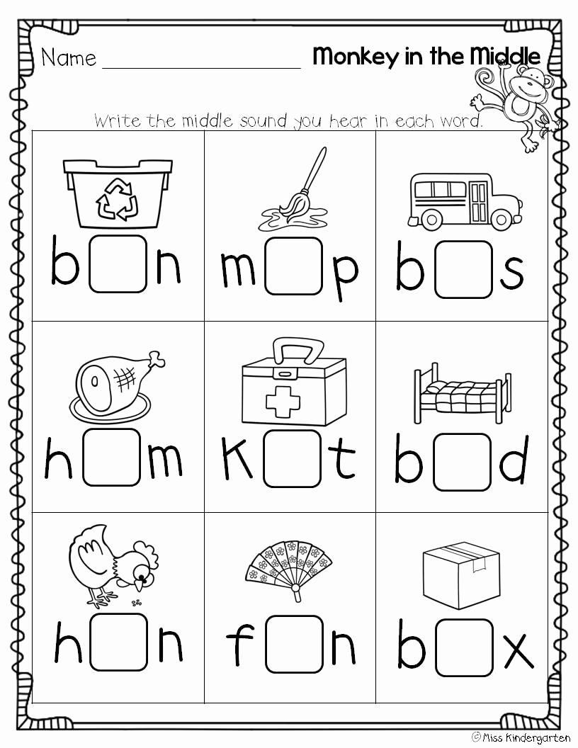 Ending sounds Worksheets for Kindergarten Kids 10 Best Beginning and Ending sounds Worksheets Images On