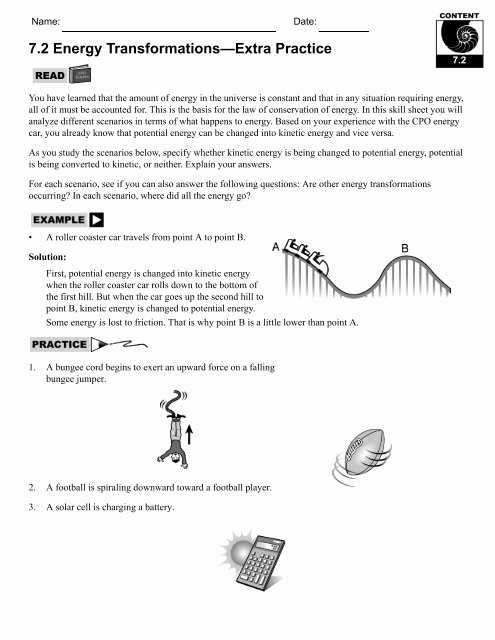 Energy Transformation Worksheet Answer Key Ideas Energy Transformations Worksheet Answers Energy Etfs