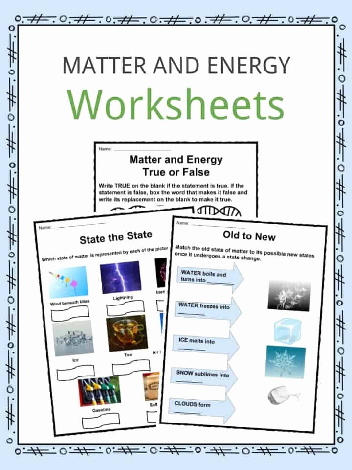 Energy Worksheets for 2nd Grade Free Matter and Energy Facts Worksheets & Information for Kids
