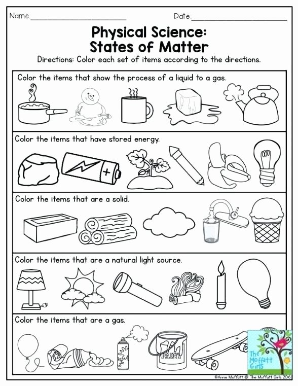 Energy Worksheets for 2nd Grade Ideas Sadlock First Grade Science Worksheets Matter Secondary