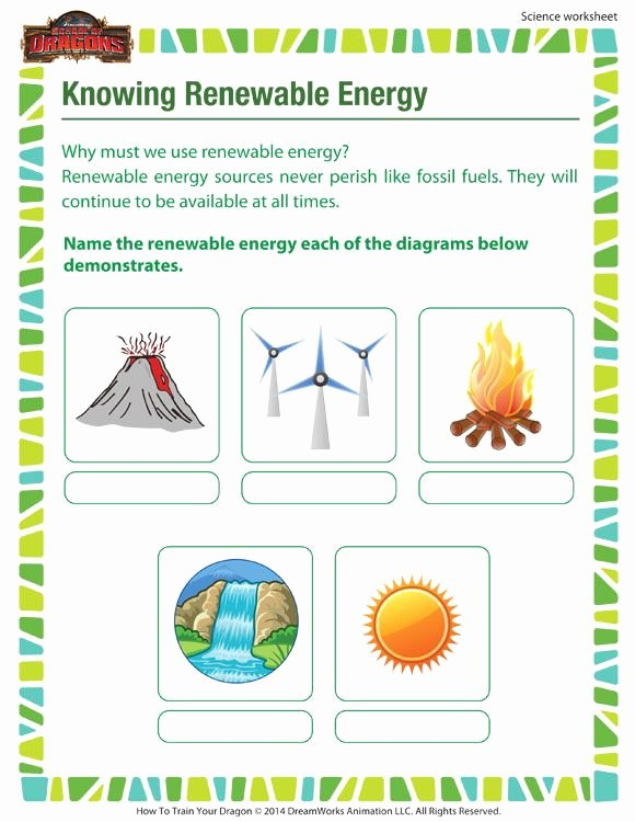Energy Worksheets for 3rd Grade Kids Knowing Renewable Energy – 3rd Grade Printable Science