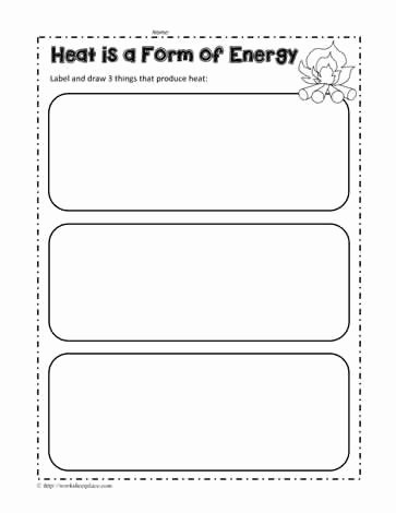 Energy Worksheets for 3rd Grade Printable Energy Worksheets