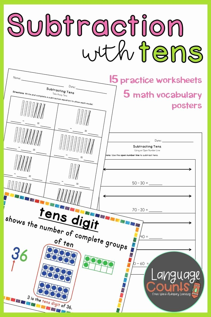 Envision Math 1st Grade Worksheets Ideas Subtracting Tens 1st Grade