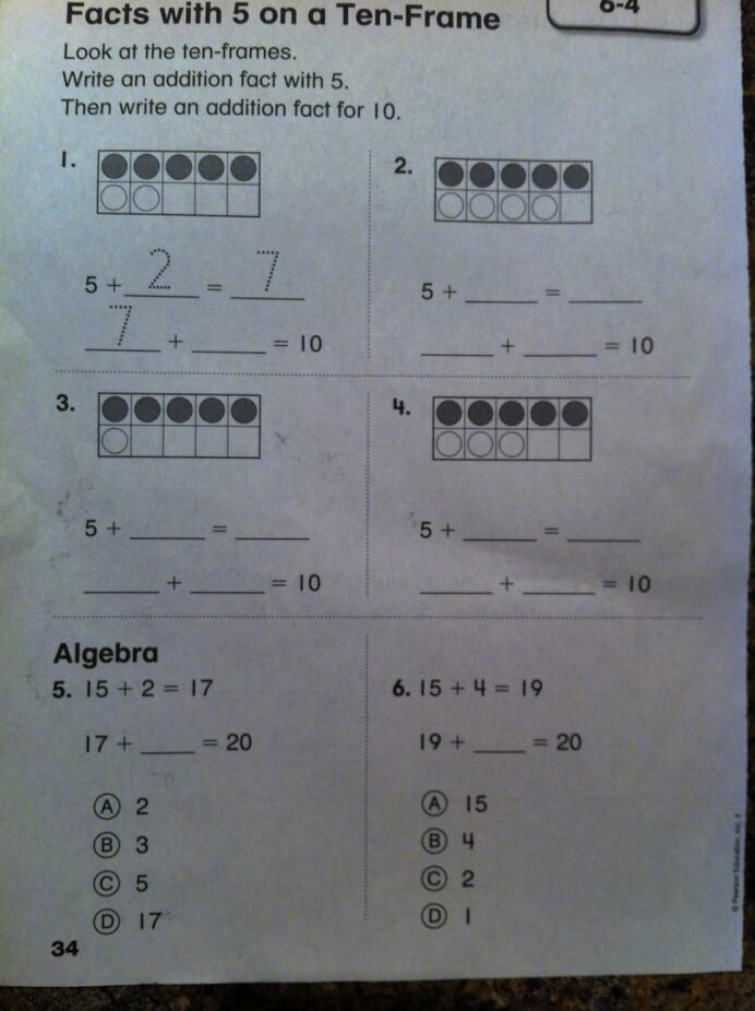 Envision Math 2nd Grade Worksheets Ideas Pearson Casting Out Nines Education First Grade Math