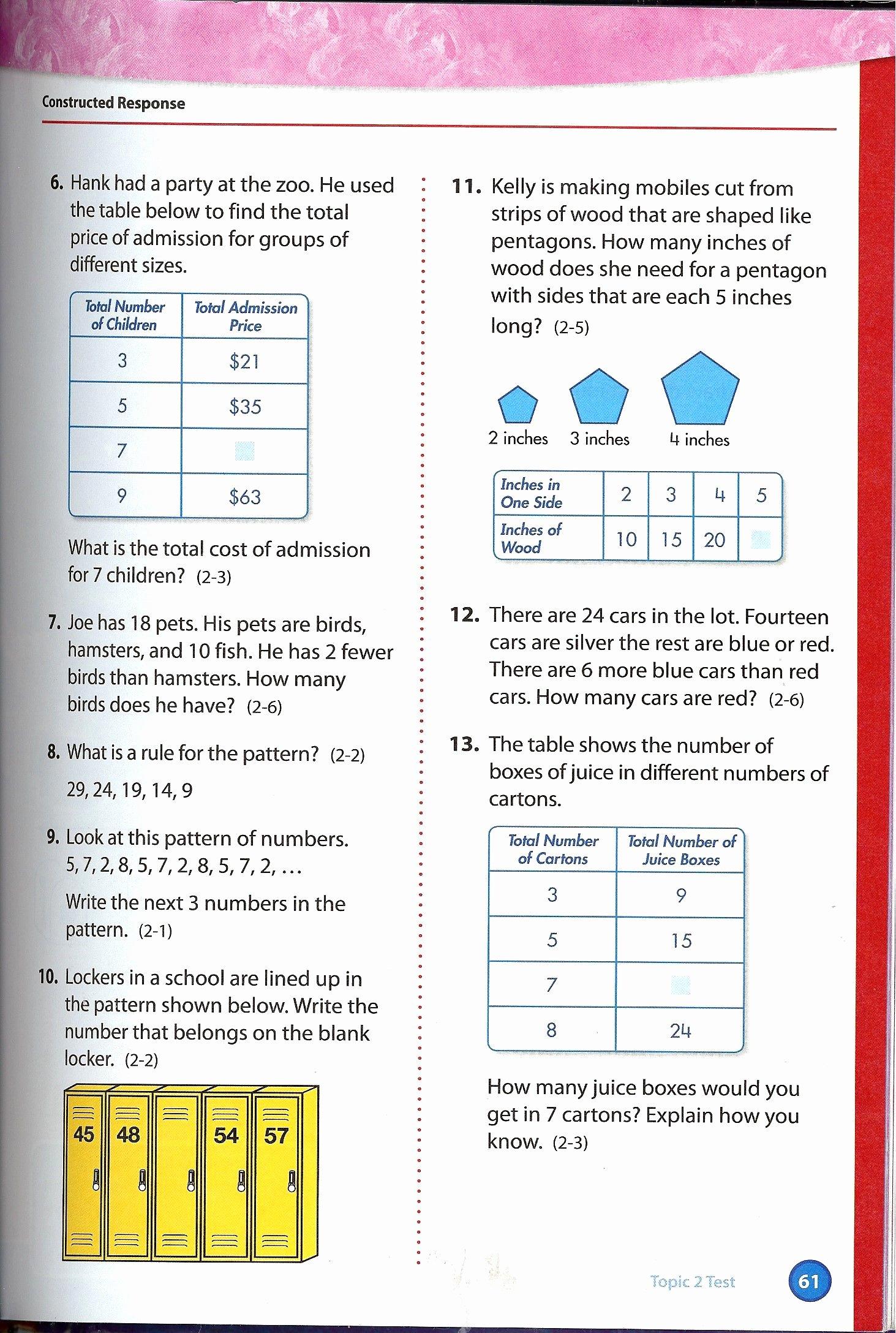 Envision Math 4th Grade Worksheets Fresh Pin Envision 4th Grade Math Pearson Worksheets Linear