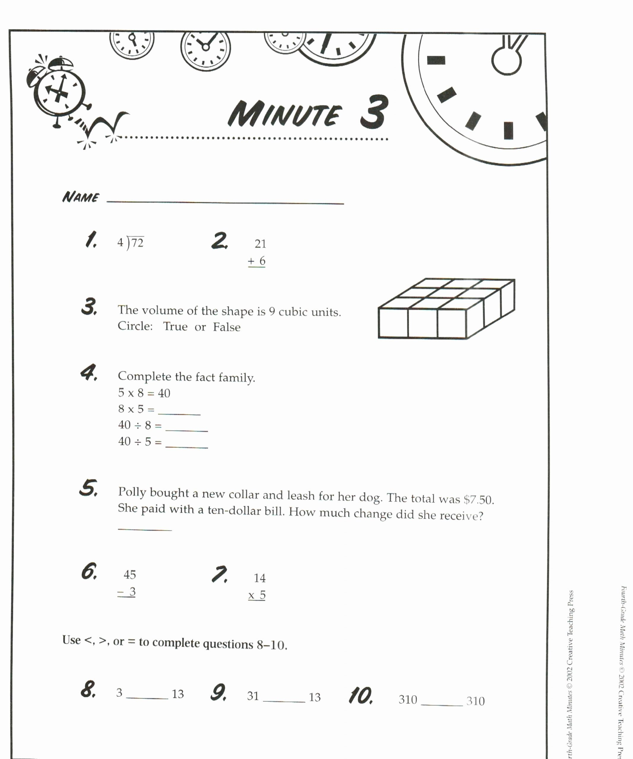 Envision Math 4th Grade Worksheets Lovely Envision Math 6th Grade Worksheets