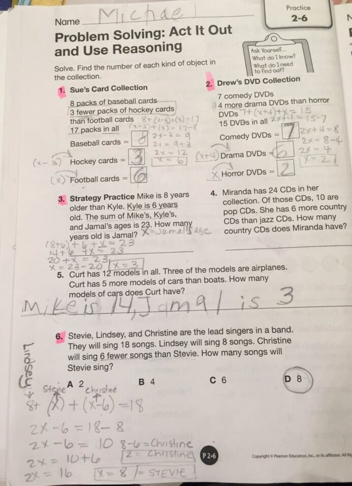 Envision Math Grade 3 Worksheets Lovely Envision Math Grade topic Problem solving Act It Out and