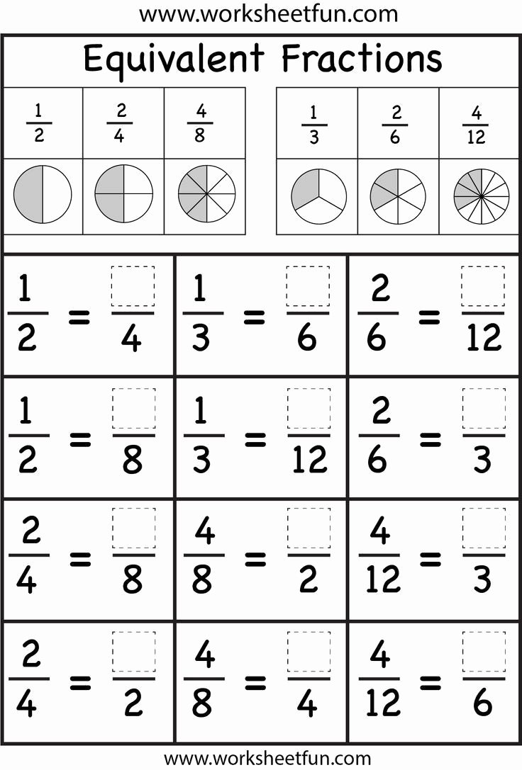Equivalent Fractions Worksheet 3rd Grade New Equivalent Fractions Korrep Math Fractions Worksheets Math