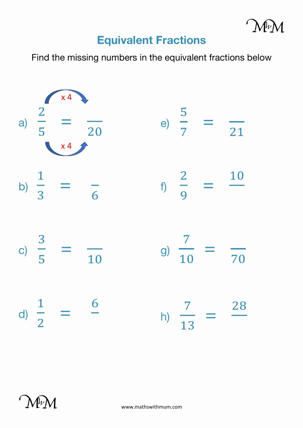 Equivalent Fractions Worksheets 5th Grade Kids Equivalent Fractions Interactive Worksheet
