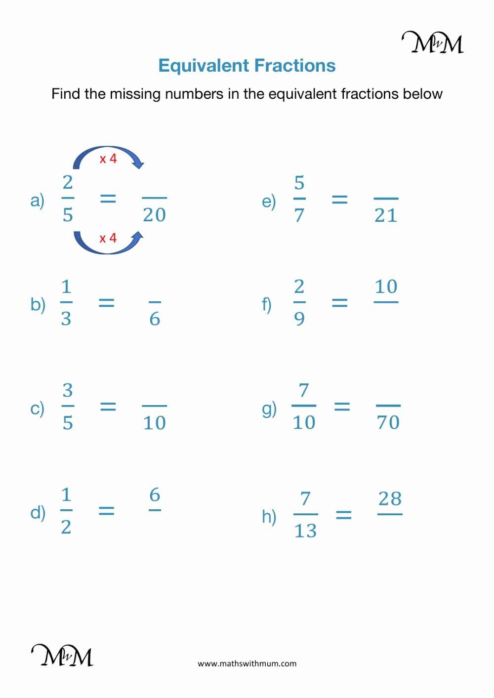 Equivalent Fractions Worksheets 5th Grade Kids Equivalent Fractions Interactive Worksheet