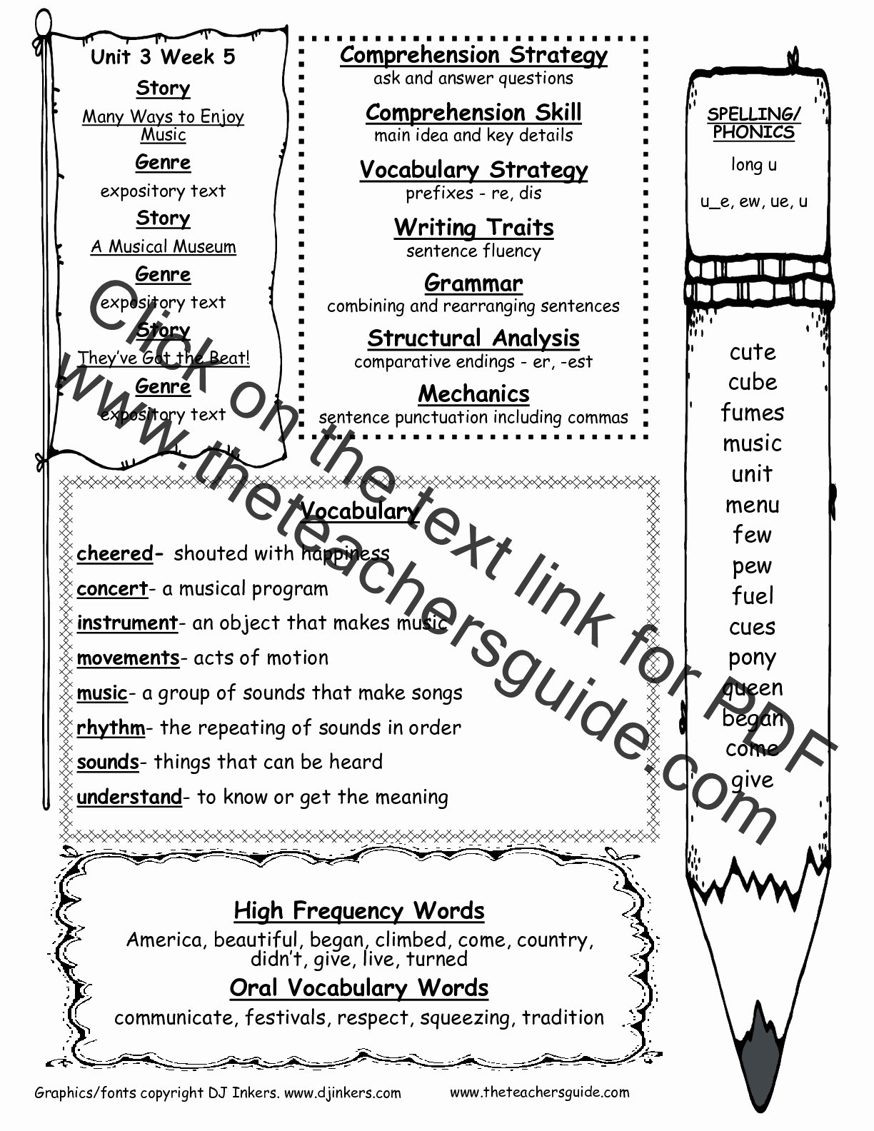 Er Est Worksheets 2nd Grade New Wonders Second Grade Unit Three Week Five Printouts