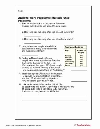Estimating Word Problems 3rd Grade Ideas Multiple Step Word Problems Addition Subtraction Printable